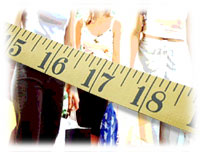 Graphic of tape measure and people's bodies