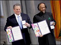Al Gore e Rajendra Pachauri. Image: AFP/Getty