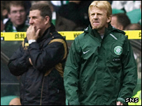 Mark McGhee (left) and Gordon Strachan