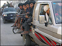 Taleban fighters in Musa Qala - 6/12/2007