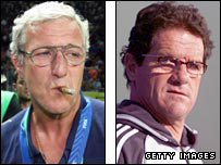 Marcello Lippi and Fabio Capello