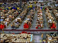 Amazon's warehouse in Milton Keynes
