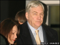 Conrad Black and his wife Barbara Amiel arrive in court