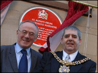 Council leader Sir Richard Leese and Lord Mayor Glynn Evans