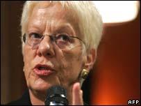 UN prosecutor Carla Del Ponte