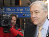 Conrad Black arriving for sentencing