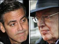 George Clooney (left) and Ian Paisley