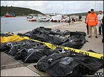 Bodies of drowned immigrants