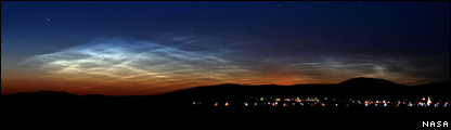 Noctilucent clouds  (Nasa)