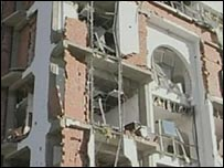 Bomb damaged building in Algiers
