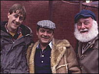 Nicholas Lyndhurst, David Jason and Buster Merryfield