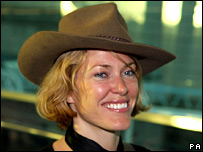 Cerys Matthews arriving at Heathrow last week