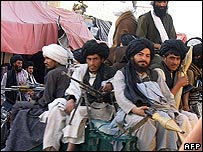 Members of the Taleban in Musa Qala