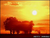 Sunrise in Cheshire, UK