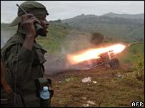 FARDC fire artillery against rebels