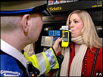 Breath test at Tube station