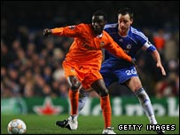 Chelsea's John Terry battles with Valencia star Sunny