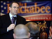 Mike Huckabee, candidato republicano