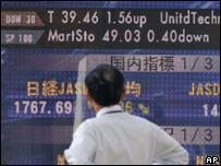 Electronic market board in Tokyo