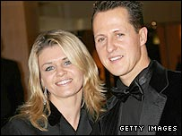 The Schumachers: Michael (right) with wife Corinna