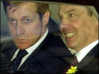 Alastair Campbell and Tony Blair