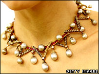 Necklace with Marie Antoinette's pearls