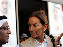 Veronique Robert speaks with lawyer Hussein Ali