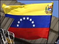 The new flag of Venezuela