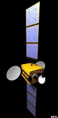 Artes satellite. Image: Surrey Satellite Technology Limited.
