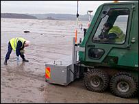 Beach radiation tests