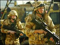 قوات بريطانية في البصرة