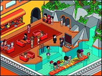 Avatars in Habbo Hotel