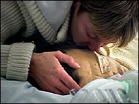 Kath kisses Nigel goodbye