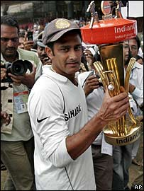 India captain Anil Kumble