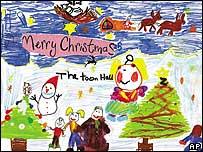 'Navidad en Woodstock' se llama la tarjeta diseñada por Scarlett Sadler
