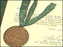 Paddy received a bravery medal