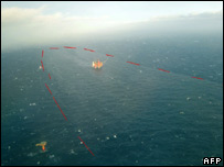 Oil spill in Statfjord, North Sea (Norwegian Coastal Administration)