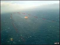 Oil spill in Statfjord, North Sea (Norwegian Coastal Administration)