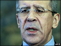 File photograph of Russian Foreign Minister Sergei Lavrov