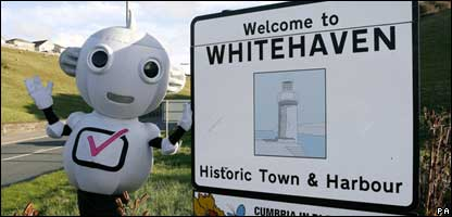 Whitehaven town sign, PA