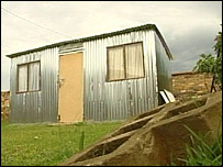 Shanty home in Soweto filmed by BBC TV