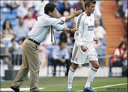 Capello and David Beckham