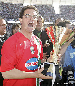 Capello after winning the title with Juventus