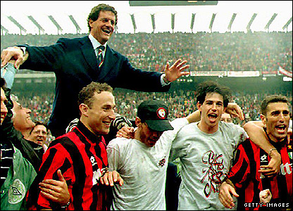 Capello while at AC Milan