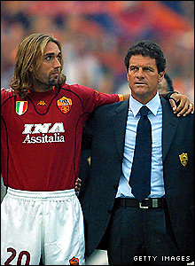 Capello with Batistuta