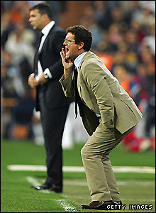 Capello on the touchline for Real Madrid