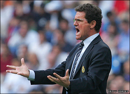 Capello on the touchline