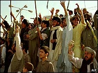 Taleban supporters in Quetta