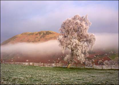 Judith Stirling took this really striking image on her farm at Builth Wells in Powys.