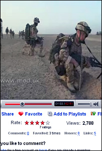 British forces on MoD YouTube video